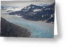 Leconte Glacial Flow Greeting Card by Mike Reid