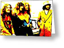Led Zeppelin Greeting Card by Paula Sharlea