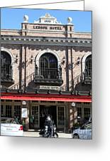 Ledson Hotel - Downtown Sonoma California - 5d19271 Greeting Card by Wingsdomain Art and Photography