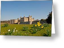 Leeds Castle In Spring 2 Greeting Card