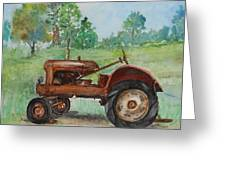 Lee's Tractor Greeting Card