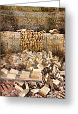 Left Over Brick In Antique Brick Kiln Greeting Card