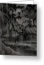 Legend Of The Old House In The Swamp Greeting Card