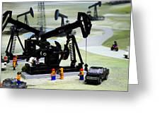 Lego Oil Pumpjacks Greeting Card