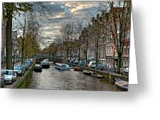 Leidsegracht. Amsterdam Greeting Card