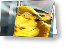Lemon Drink Greeting Card by Carlos Caetano