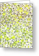 Lemon Lime Abstract Greeting Card