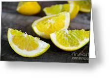 Lemon Quarters Greeting Card