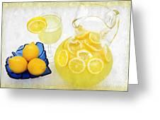 Lemonade And Summertime Greeting Card