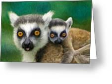 Lemurs Greeting Card