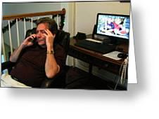 Len Calling 2009 Greeting Card
