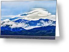 Lenticular And The Chugach Mountains Greeting Card
