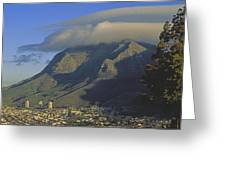 Lenticular Cloud Over Table Mountain Greeting Card