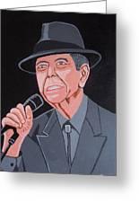 Leonard Cohen Greeting Card