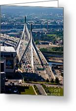 Leonard Yakim Bunker Hill Memorial Bridge Greeting Card