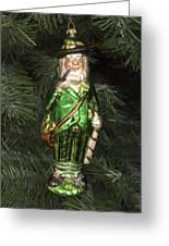 Leprechaun Christmas Ornament Greeting Card