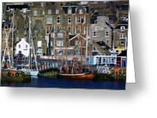 Lerwick Harbour Shetland Greeting Card