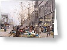 Les Halles And St. Eustache Greeting Card