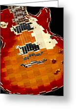 Classic Guitar Abstract Greeting Card