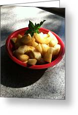 Less Than 30 Calories Low Carb Diet Cucumber Carmel Salad Dessert Greeting Card