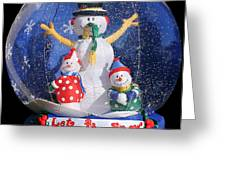 Let It Snow Greeting Card by Christine Till
