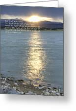 Let Light Shine Out Of Darkness Greeting Card