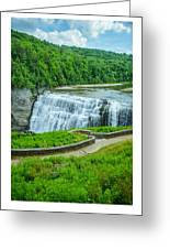 Letchworth Upper Falls Greeting Card