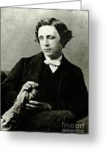 Lewis Carroll, English Author Greeting Card by Photo Researchers