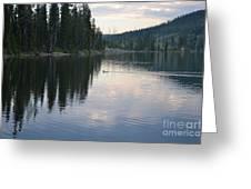 Lewis Lake With Waterfowl Greeting Card
