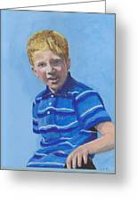 Liam Greeting Card by Peter Edward Green