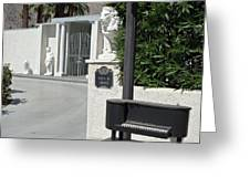Liberace's Driveway Greeting Card