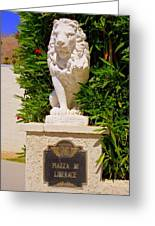 Liberace's Lion Greeting Card