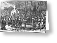 Liberating Slaves, 1864 Greeting Card