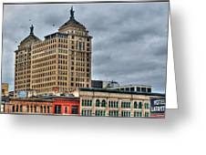 Liberty Building And Hotel Lafayette Greeting Card
