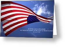 Liberty Greeting Card by Emanuel Tanjala