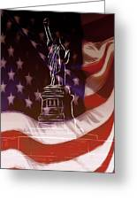Liberty For All Greeting Card by Steve K