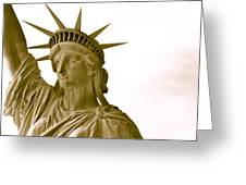 Liberty Up Close Greeting Card