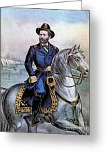 Lieutenant General Ulysses S Grant Greeting Card by Photo Researchers