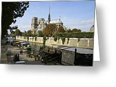 Life Along The River Seine Greeting Card