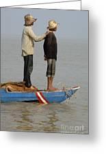 Life On Lake Tonle Sap 4 Greeting Card