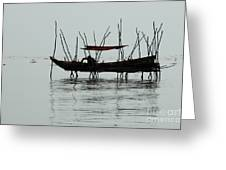 Life On Lake Tonle Sap  Greeting Card