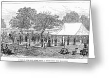 Life-sized Chess, 1882 Greeting Card