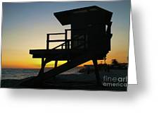 Lifeguard Silhouette Greeting Card