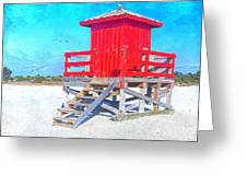Lifeguard Stand Greeting Card