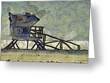 Lifeguard Station 17 Greeting Card by Ernie Echols