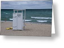 Lifeguard Station At The Beach Greeting Card
