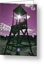 Lifeguard Tower II Greeting Card
