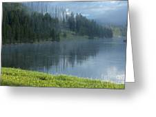 Lifting Fog On The Yellowstone Greeting Card
