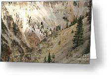 Light And Shadows In The Grand Canyon In Yellowstone Greeting Card