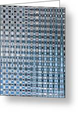 Light Blue And Gray Abstract Greeting Card